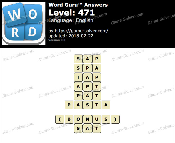 Word Guru Level 471 Answers