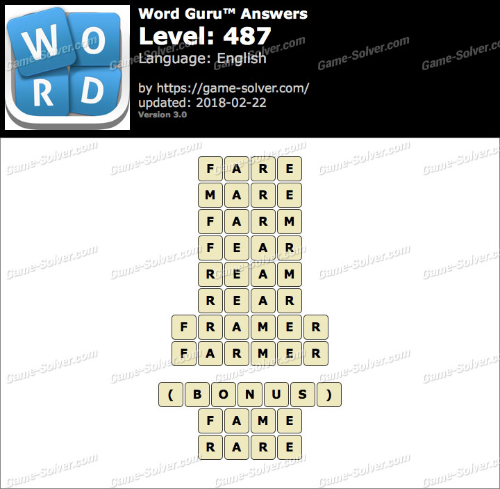 Word Guru Level 487 Answers