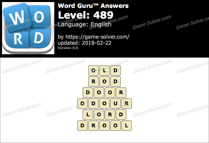 Word Guru Level 489 Answers