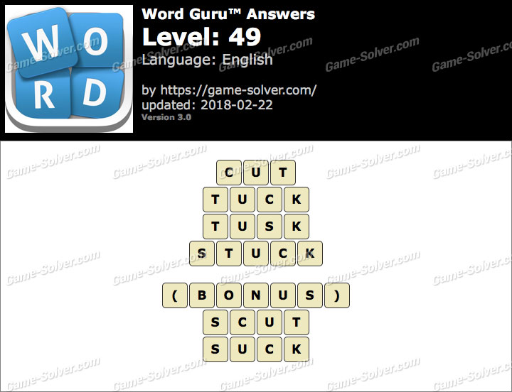Word Guru Level 49 Answers