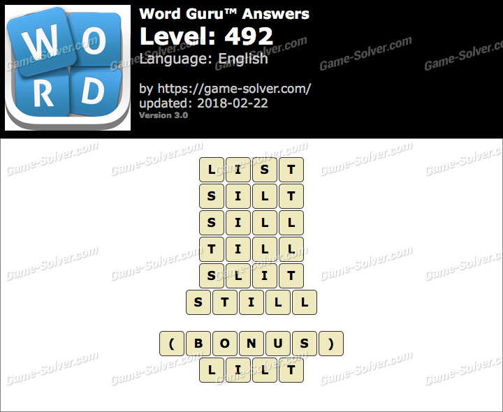 Word Guru Level 492 Answers