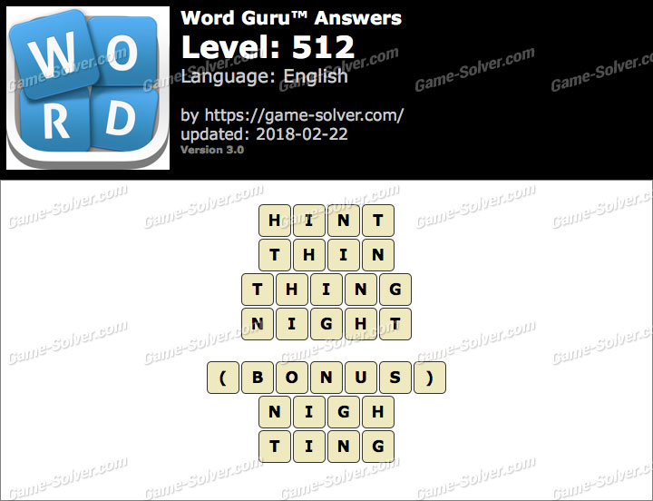 Word Guru Level 512 Answers