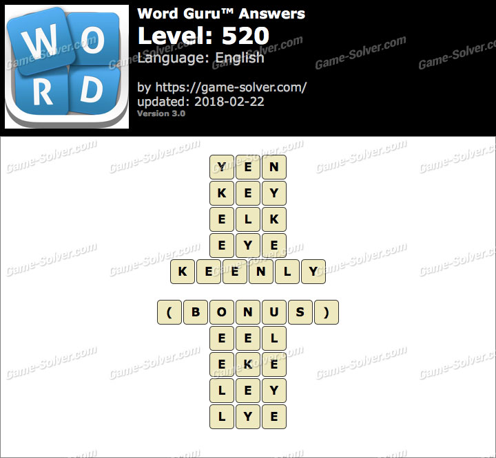 Word Guru Level 520 Answers