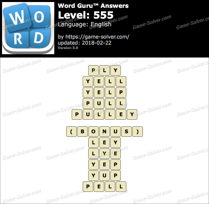 Word Guru Level 555 Answers