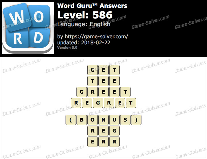 Word Guru Level 586 Answers