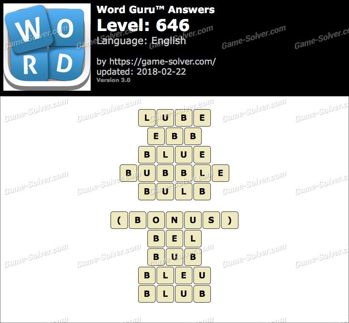 Word Guru Level 646 Answers