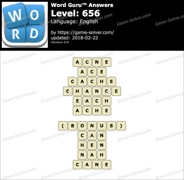 Word Guru Level 656 Answers
