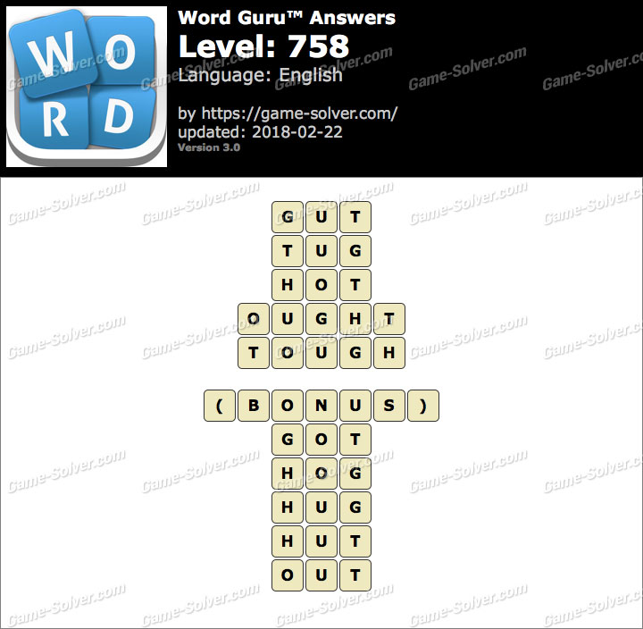 Word Guru Level 758 Answers