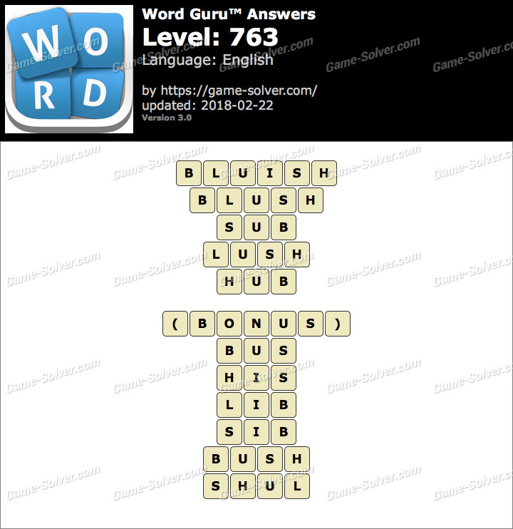 Word Guru Level 763 Answers
