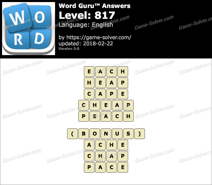 Word Guru Level 817 Answers