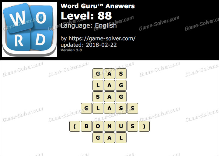 Word Guru Level 88 Answers