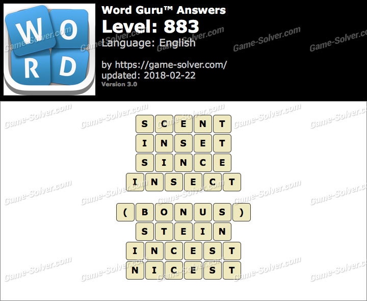 Word Guru Level 883 Answers