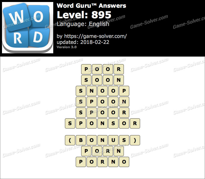 Word Guru Level 895 Answers