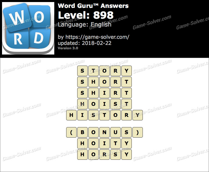 Word Guru Level 898 Answers