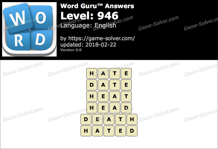 Word Guru Level 946 Answers