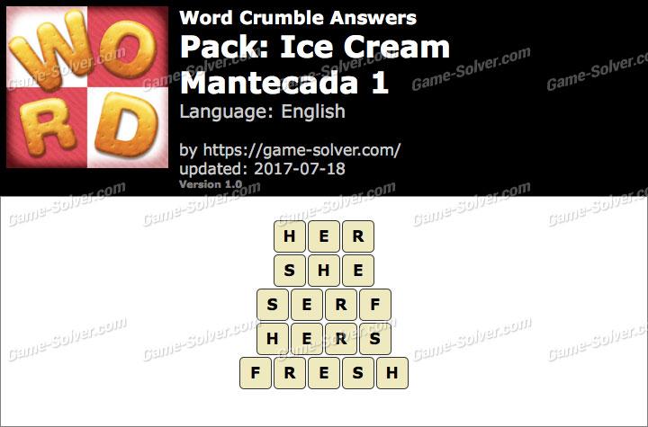 Word Crumble Ice Cream-Mantecada 1 Answers