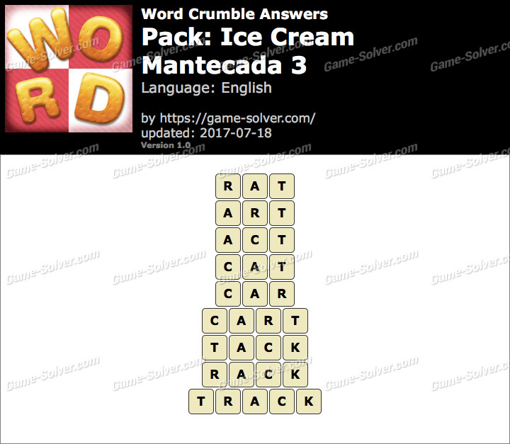 Word Crumble Ice Cream-Mantecada 3 Answers