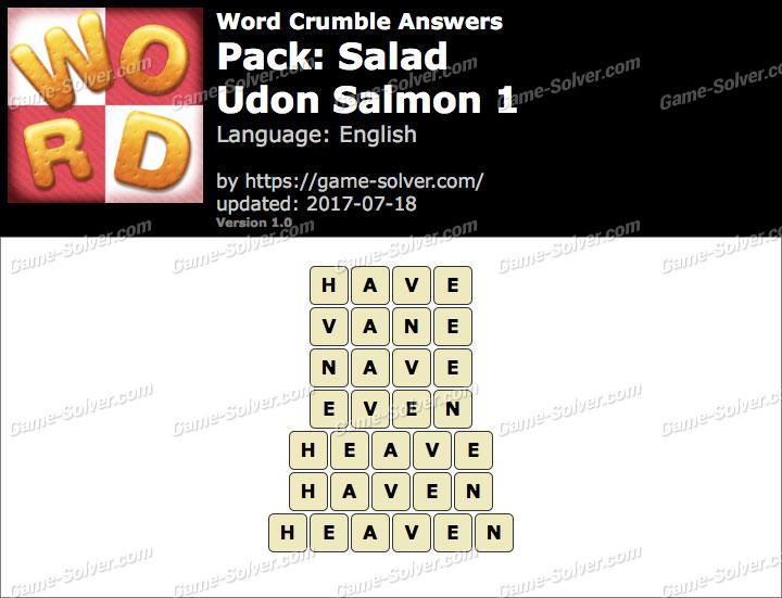 Word Crumble Salad-Udon Salmon 1 Answers