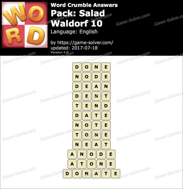 Word Crumble Salad-Waldorf 10 Answers