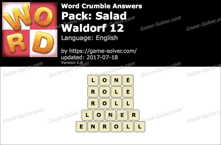 Word Crumble Salad-Waldorf 12 Answers