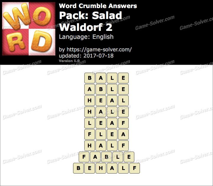 Word Crumble Salad-Waldorf 2 Answers
