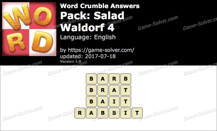 Word Crumble Salad-Waldorf 4 Answers