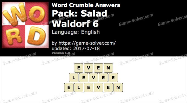 Word Crumble Salad-Waldorf 6 Answers