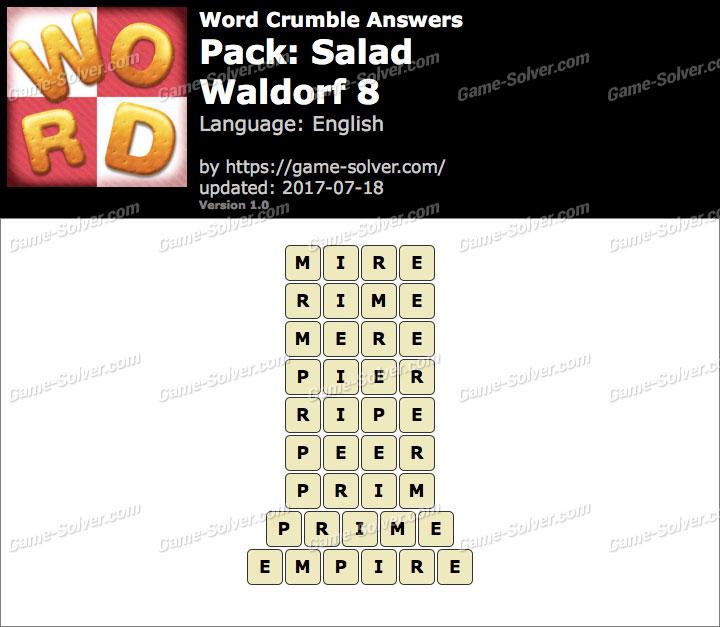 Word Crumble Salad-Waldorf 8 Answers