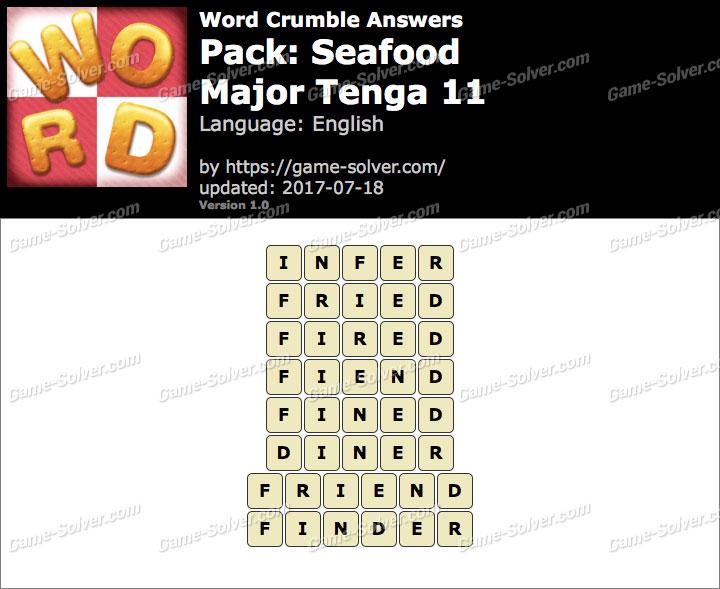 Word Crumble Seafood-Major Tenga 11 Answers
