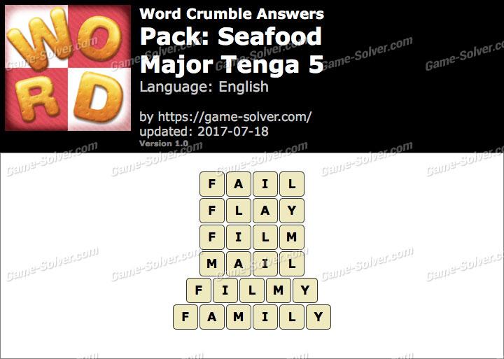 Word Crumble Seafood-Major Tenga 5 Answers