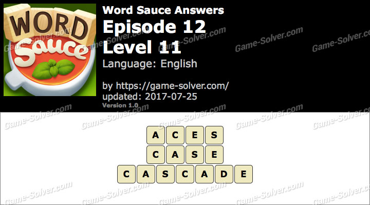 Word Sauce Episode 12-Level 11 Answers