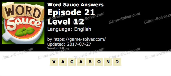 Word Sauce Episode 21-Level 12 Answers
