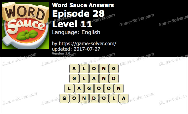 Word Sauce Episode 28-Level 11 Answers