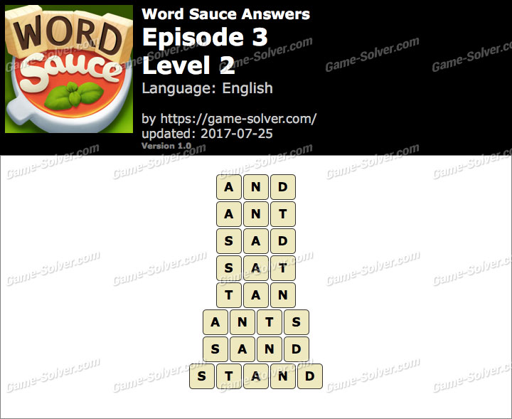 Word Sauce Episode 3-Level 2 Answers