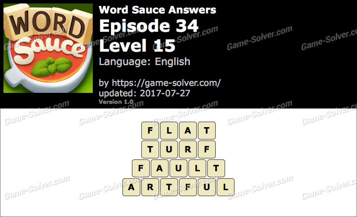 Word Sauce Episode 34-Level 15 Answers