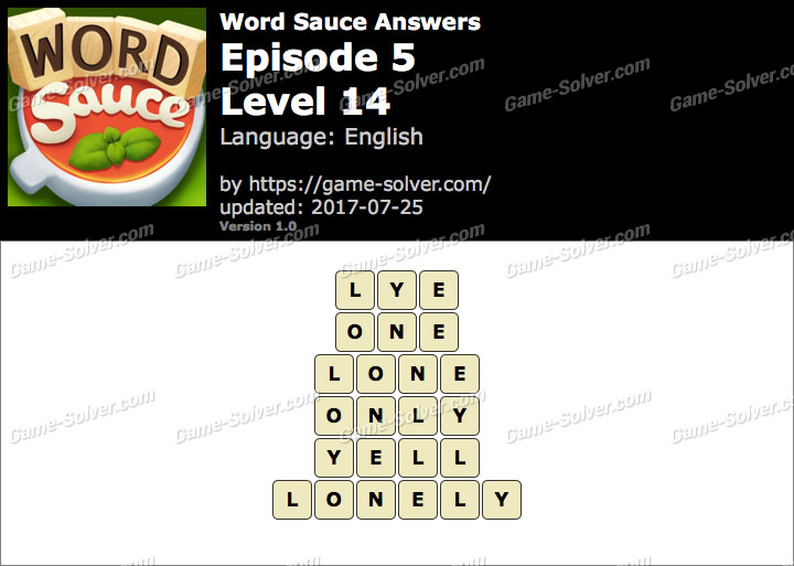 Word Sauce Episode 5-Level 14 Answers