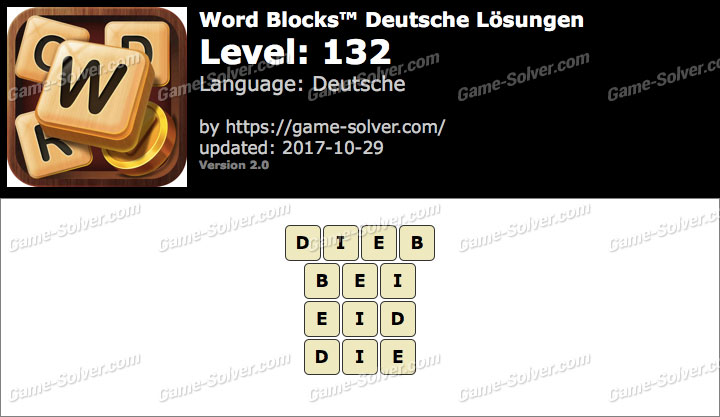 Word Blocks Level 132 Lösungen