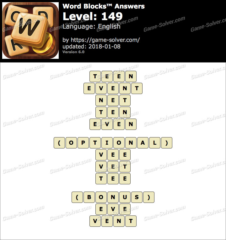 Word Blocks Level 149 Answers