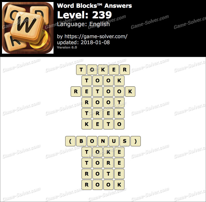 Word Blocks Level 239 Answers