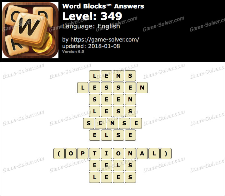 Word Blocks Level 349 Answers