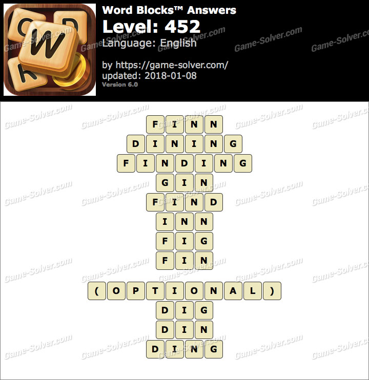 Word Blocks Level 452 Answers