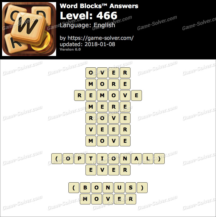 Word Blocks Level 466 Answers