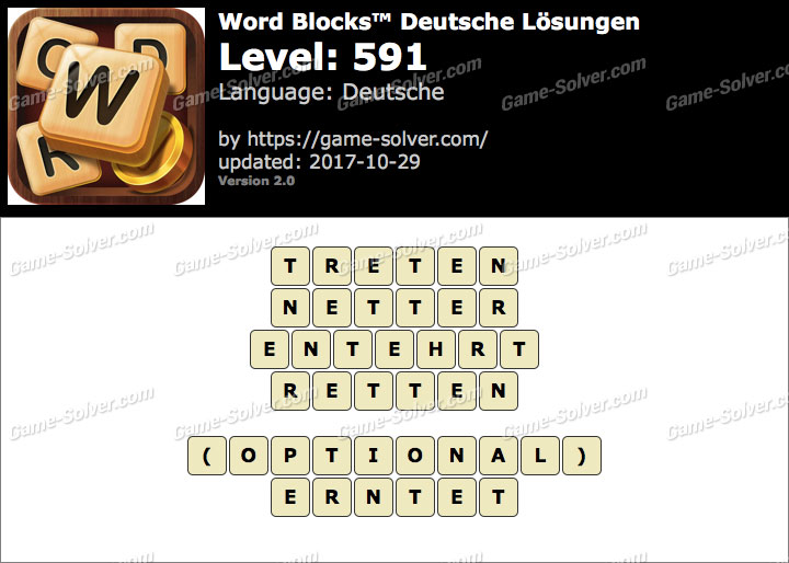 Word Blocks Level 591 Lösungen