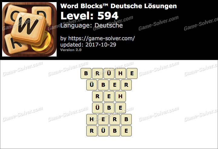 Word Blocks Level 594 Lösungen