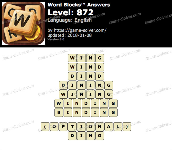 Word Blocks Level 872 Answers
