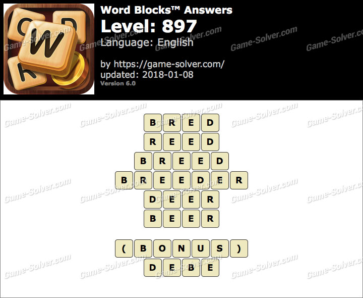 Word Blocks Level 897 Answers