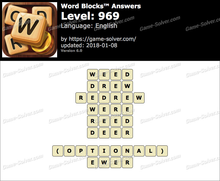 Word Blocks Level 969 Answers