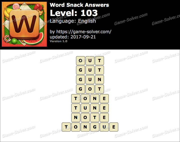 Word Snack Level 103 Answers