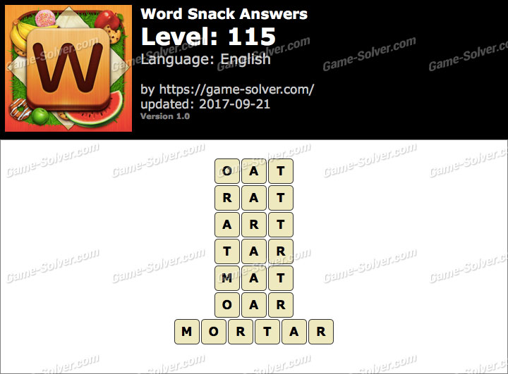 Word Snack Level 115 Answers