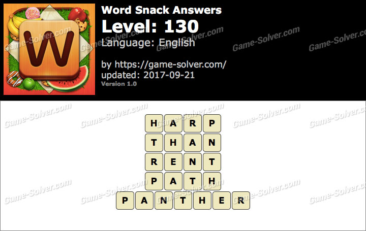 Word Snack Level 130 Answers